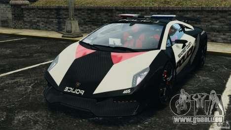 Lamborghini Sesto Elemento 2011 Police v1.0 ELS pour GTA 4 est une gauche