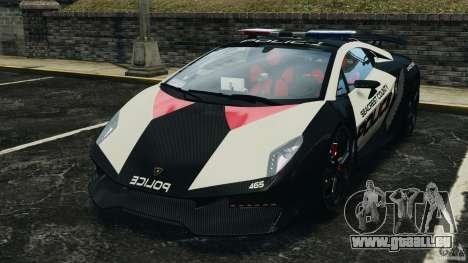 Lamborghini Sesto Elemento 2011 Police v1.0 ELS für GTA 4 linke Ansicht