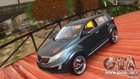 Kia Sportage 2010 v1.0 pour GTA 4 est une vue de l'intérieur