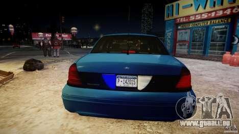 Ford Crown Victoria Detective v4.7 [ELS] pour GTA 4 Salon
