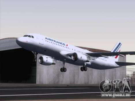 Airbus A320-211 Air France für GTA San Andreas zurück linke Ansicht