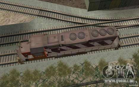 CN SD40 ZEBRA STRIPES pour GTA San Andreas vue de côté