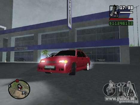 VAZ 2115 TUNING für GTA San Andreas Rückansicht