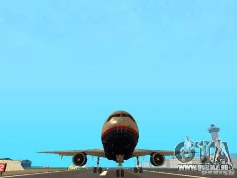 McDonell Douglas DC10 United Airlines pour GTA San Andreas vue arrière