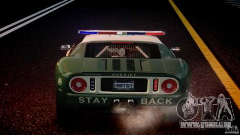 Ford GT1000 Hennessey Police 2006 [EPM][ELS] pour GTA 4 roues