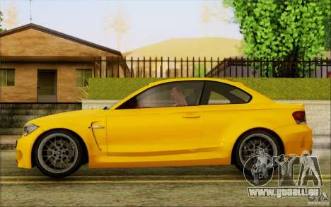 BMW 1M Coupe pour GTA San Andreas sur la vue arrière gauche