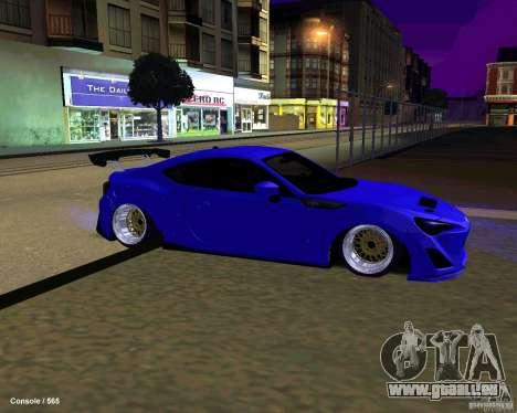 Scion FR13 pour GTA San Andreas vue de dessous