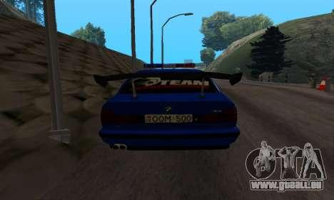 BMW M5 POLICE pour GTA San Andreas vue de droite