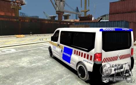 Opel Vivaro Hungarian Police Van pour GTA 4 Vue arrière de la gauche