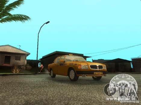 GAZ 3110 Wolga taxi für GTA San Andreas Seitenansicht