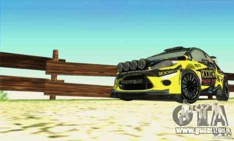 Ford Fiesta Rockstar Energy pour GTA San Andreas vue de droite