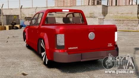 Volkswagen Amarok 2.0 TDi AWD Trendline 2012 pour GTA 4 Vue arrière de la gauche