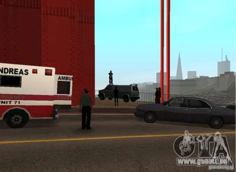 Ein Selbstmordattentäter auf der Brücke für GTA San Andreas dritten Screenshot