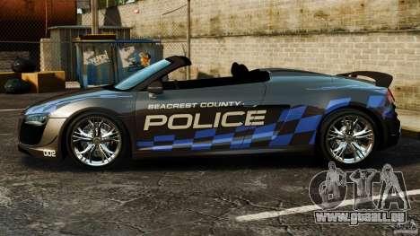 Audi R8 GT Spyder 2012 pour GTA 4 est une gauche