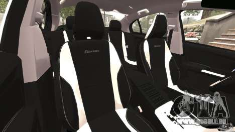 Volvo S60 R Design pour GTA 4 est une vue de l'intérieur