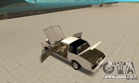 Chevrolet Monte Carlo 1976 pour GTA San Andreas vue intérieure