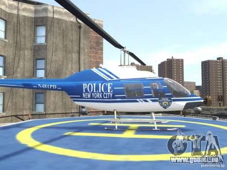 Bell 206 B - NYPD für GTA 4 linke Ansicht