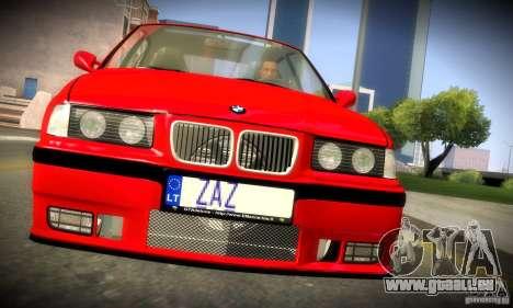BMW M3 E36 pour GTA San Andreas vue intérieure