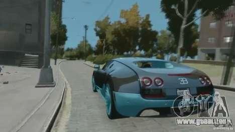 Bugatti Veyron 16.4 Super Sport pour GTA 4 Vue arrière