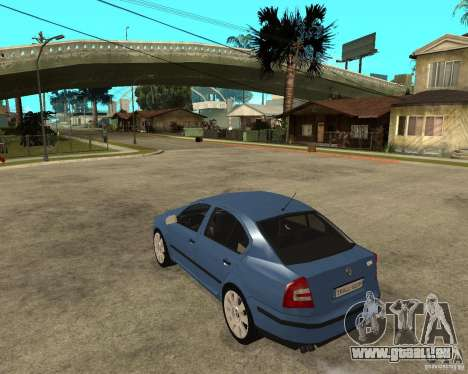 Skoda Octavia II. 2005 pour GTA San Andreas laissé vue