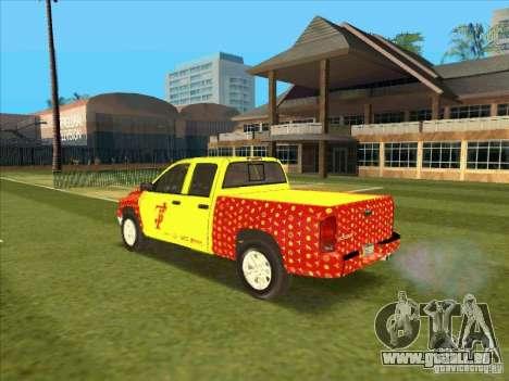 Tej Dodge RAM 2 Fast 2 Furious pour GTA San Andreas sur la vue arrière gauche
