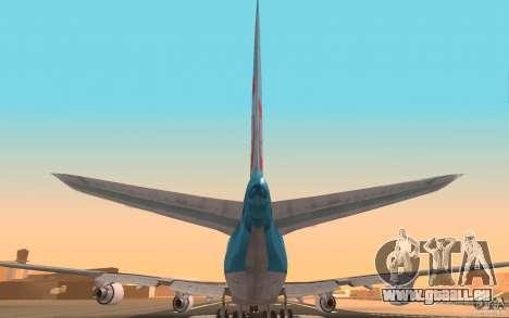 Boeing-747 Corsair Fly pour GTA San Andreas vue arrière