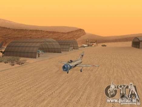 MiG-15 mit Waffen für GTA San Andreas Innenansicht