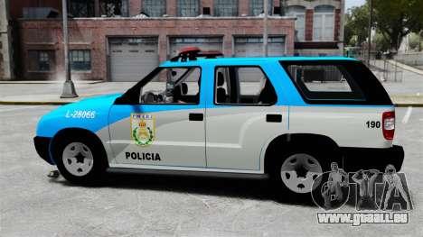 Chevrolet Blazer 2010 PMERJ ELS pour GTA 4 est une gauche