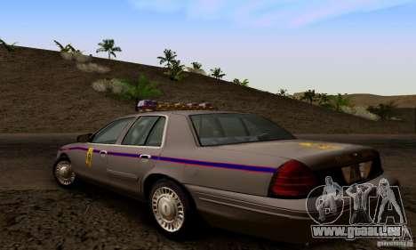 Ford Crown Victoria Mississippi Police pour GTA San Andreas laissé vue