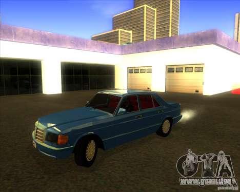 Mercedes-Benz 500SE 1985 pour GTA San Andreas vue intérieure