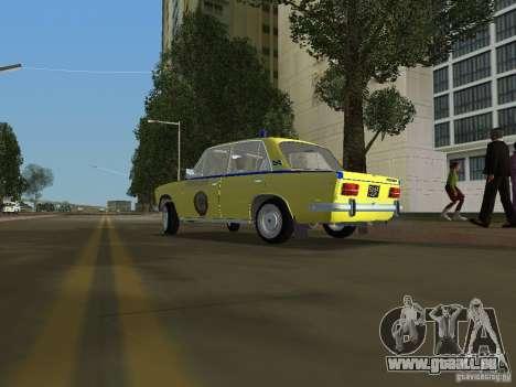Police Vaz 2103 pour une vue GTA Vice City de la gauche