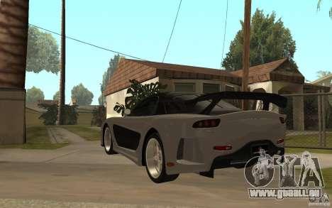 Mazda RX 7 VeilSide Fortune v.2.0 pour GTA San Andreas sur la vue arrière gauche