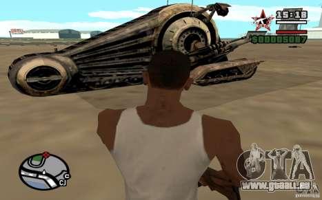 Alliance Tank Droid pour GTA San Andreas sur la vue arrière gauche