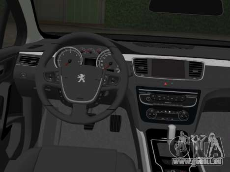 Peugeot 508 e-HDi 2011 pour GTA Vice City sur la vue arrière gauche