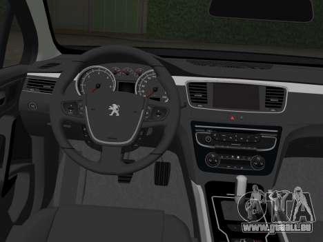 Peugeot 508 e-HDi 2011 für GTA Vice City zurück linke Ansicht