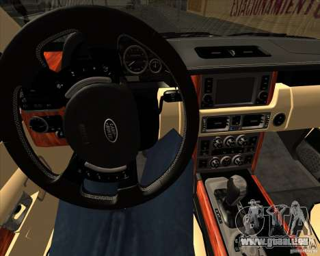 Range Rover Hamann Edition pour GTA San Andreas vue de dessous