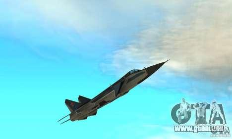 MiG-31 Foxhound für GTA San Andreas Unteransicht