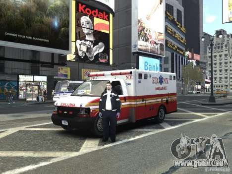 Chevrolet Ambulance FDNY v1.3 für GTA 4