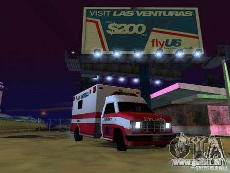 Ambulance 1987 San Andreas pour GTA San Andreas sur la vue arrière gauche