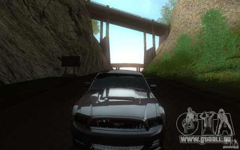Ford Mustang GT V6 2011 für GTA San Andreas Innenansicht