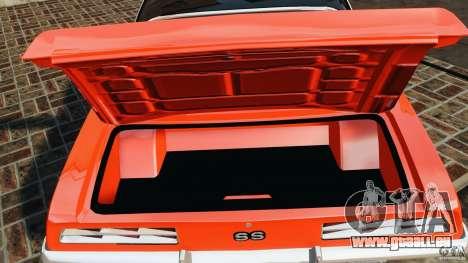 Chevrolet Camaro SS 350 1969 pour GTA 4 vue de dessus