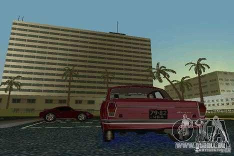 GAZ Volga 24 pour GTA Vice City sur la vue arrière gauche