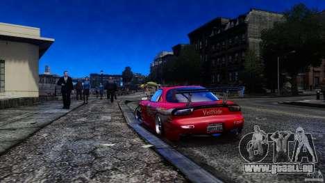 Mazda RX-7 FnF pour GTA 4 est une gauche