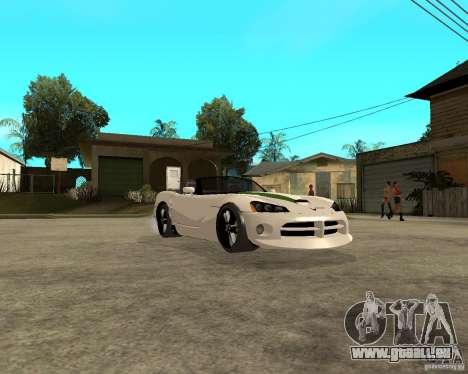 Dodge Viper SRT-10 für GTA San Andreas Rückansicht