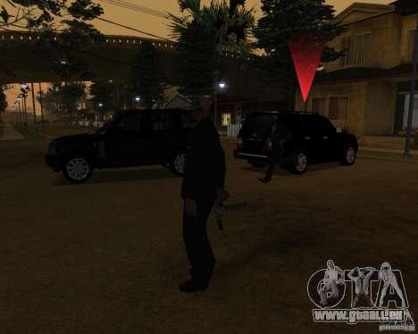 Protection sur une jeep pour GTA San Andreas deuxième écran