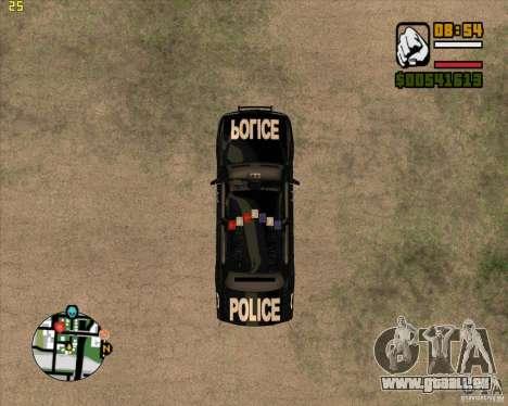 Polizei-Auto von NFS: MW für GTA San Andreas Rückansicht