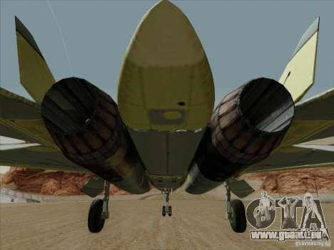 T-50 Pak Fa für GTA San Andreas Innen