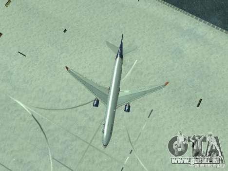 Airbus A330-300 Aeroflot pour GTA San Andreas vue de dessus