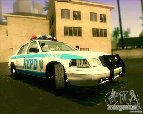 Ford Crown Victoria 2003 NYPD police V2.0 pour GTA San Andreas