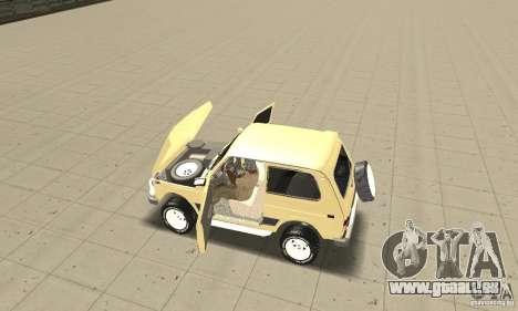 VAZ 21213 4 x 4 pour GTA San Andreas vue arrière